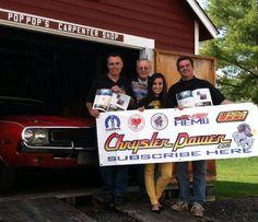 Miss Mopar & her Mopar family (dad, pop-pop and uncle) celebrating her debut in Chrysler Power