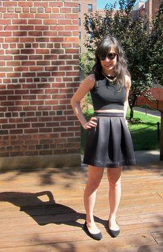 DIY Pleated Flare Skirt - << joeandcheryl.com >>