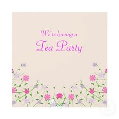 Pretty Mother's Day Tea Party Invitations.