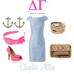delta gamma chapter attire