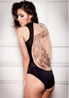 Tatu Couture Adele Bodysuit  With a long black flowing skirt... girgeous
