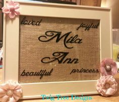 Personalized sign with burlap background !