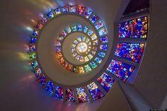 glory window spiral stained glass window