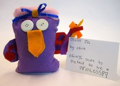 owl stuffies inspired by Faith Ringgold
