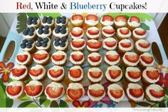 Red White & Blueberry Cupcakes(GF)