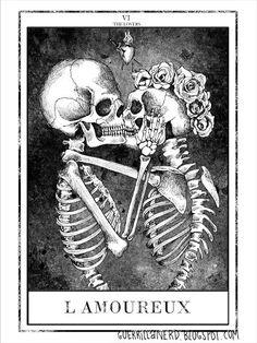 The Lovers Tarot Card. Tattoo idea --> http://All-About-Tarot.com <--