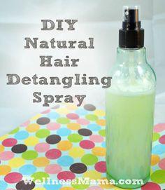 DIY Natural Hair Detangling Spray Natural Inexpensive and Easy to Make DIY Hair Detangling Spray