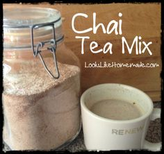 This Spiced Chai Tea Mix Recipe is perfect for summer or winter.  Served warm or cold, it's like a spicy hug for your soul.  Give it a try and let us know what you think!