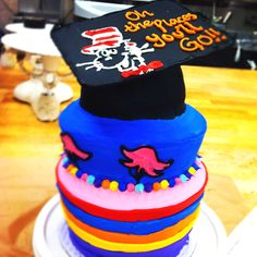 My graduation cake! Oh the places you'll go!