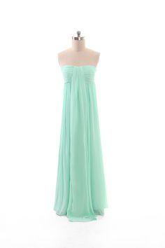 Beauty sleeveless chiffon bridesmaid gown