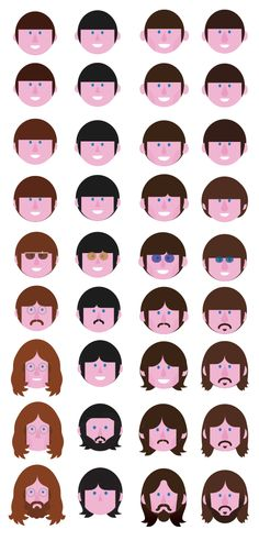 Beatles (R)evolution by danilo agutoli, via Behance