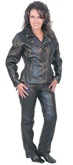 New Women Black Cropped Motorcycle Leather Jacket JACKETSCWMALLSCOM