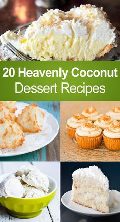 20 Heavenly Coconut Dessert Recipes #dessert #recipe #food #recipe #healthy