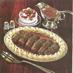 Rolled Stuffed Steakettes...my mom used to make this. Love vintage recipes.
