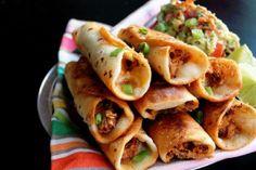 chicken flauta, main dish, roast chicken, mexican food, guacamole, roasted chicken, yummi recip, easi roast, bacon guacamol