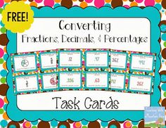 Presents, decimals, and fractions freebie!