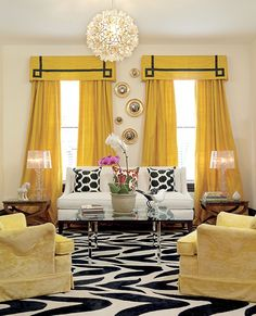 Bright yellow draper
