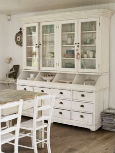 whitewash dish cabinet
