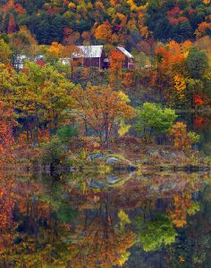 Vermont . Everyone needs to go here once in their lives, in early October. Any later and the leaves have fallen.