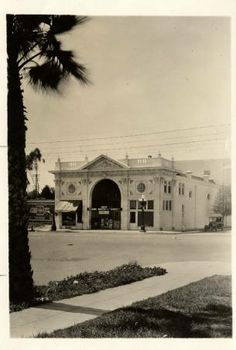 Exterior view of the Cody Theater, located at 303 S. Brand Boulevard, San Fernando, 1923. The movie advertised on the theater's marquee is Grumpy (1923) starring prolific silent film star of the 1910s and 1920s, Theodore Roberts. San Fernando Valley Historical Society. San Fernando Valley History Digital Library.
