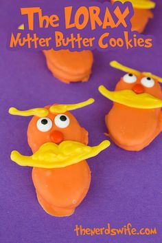 The Lorax Nutter Butter Cookies - Perfect for Dr. Seuss' birthday or Read Across America Day!
