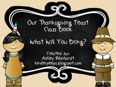 FREE Thanksgiving Class Book!  So much fun!  Students draw and write what they would bring to Thanksgiving dinner!  Hilarious! Please leave feedback!