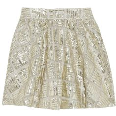 Alice + Olivia Jaylyn patterned metallic mesh skirt