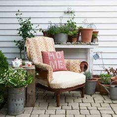 Cosy country garden porch