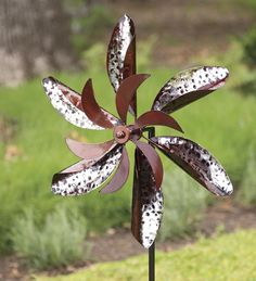 Metallic #Flower #Garden #Wind #Spinner