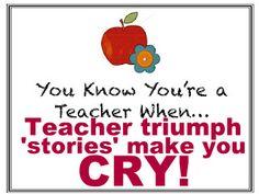 Tear-filled 'teacher' story link.