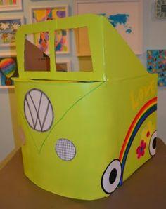 cardboard box cars, cardboard boxes, california girl