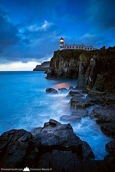 scotland, skye, isl, lighthouses, blue, neist point, nest, point lighthous, place