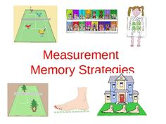 This Power Point offers 22 slides that will help students remember measurements such as how many inches in a foot, feet in a yard, cups in a quart,  pints in a quart, quarts in a gallon and ounces in a pound. Colorful images integrate memory strategies and students can then test their memory on the second half of the slide show.  Who thought measurement could be so much fun!