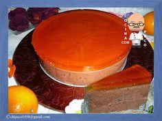 Mousse de chocolate y gelatina de naranja