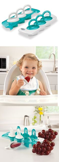 Munchkin Click Lock Fresh Food Freezer Pops - A tray of freezer pops that make 6 homemade frozen snacks for baby, because, food for thought, why shouldn't tasty treats also be healthy? Now you can provide your toddler with healthy treats that you... - Food Storage - Baby$7.99