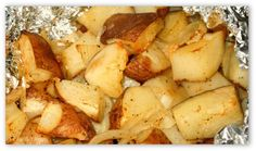 Campfire Roasted Potatoes Recipe...Looks easy enough and delicious.