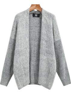 grey sweater.