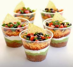 Taco cups! How adorable  perfect for the cocktail hour.  #mwri #cocktailhour #foodstation