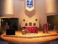 St. Elizabeth of Hungary Roman Catholic Church: Lenten Altar Decoration 2010