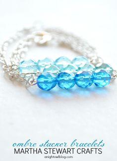 DIY Ombre Stacker Bracelets with Martha Stewart Crafts® Jewelry | #12monthsofmartha #marthastewartcrafts #jewelry