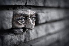 Another brick in the wall face, stuff, street art, gorzow, bricks, wall, thing, poland, streetart