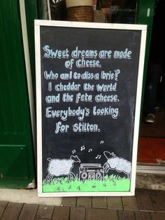 Cheesy sign...
