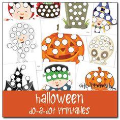 preschool worksheets: do a dot halloween printable