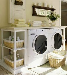 Laundry storage ideas (courtesy of @Maritzalyv596 )