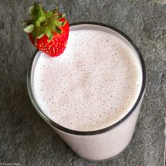 Strawberry Banana Greek Yogurt Smoothie.