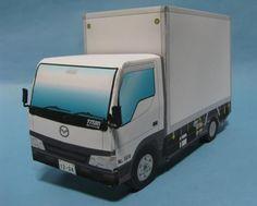 Mazda Titan Japanese Truck Paper Model - by Takahiro Kojima - == -  This easy-to-build Mazda Titan Truck paper model was created by Japanese designer Takahiro Kojima, from Papa Cocolog website.