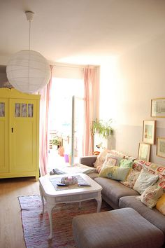 the new old yellow armoire by whereyourheartis