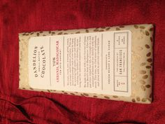 Beautiful packaging (artisan chocolate bar)
