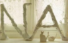 Romantic Home Crafts Love Letters Plaster