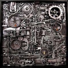 metal sculptures, jud turner, machin, background, flyers, inspir, mechan form, the artist, steampunk